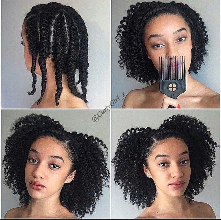 Pingl par britt diane sur hairstyles pinterest - Idee coiffure afro ...