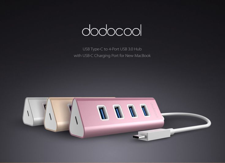 #dodocool aluminum #USBhub,allowing you to connect USB devices.Sleek triangle design makes this dodocool aluminum USB type-C to 4-Port USB 3.0 Hub a perfect partner for your USB-C computer.