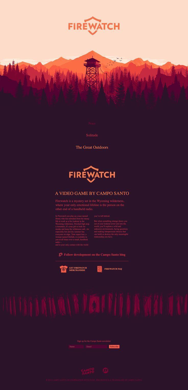 Firewatch Parallax Web Design In 2020 Web Design Web Design Inspiration Portfolio Firewatch
