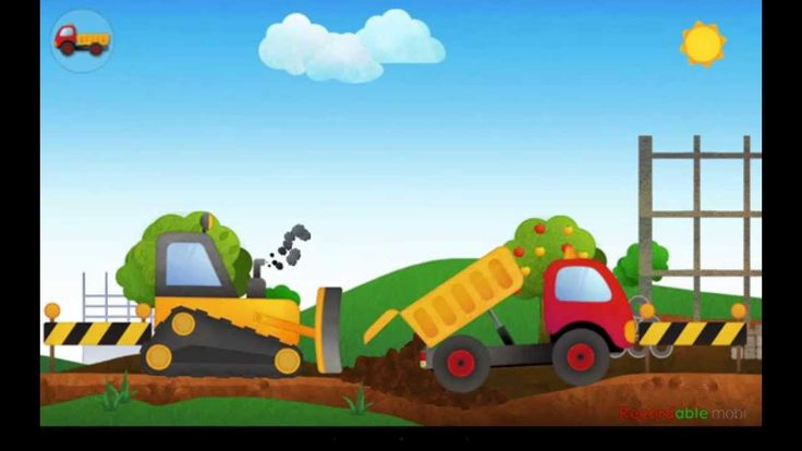Мультик про машинки Дорожно-строительная техника
