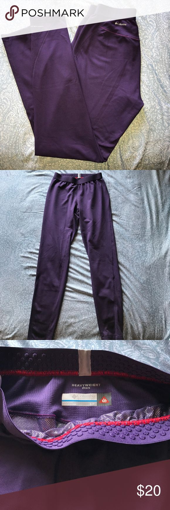 Columbia omni-heat heavy duty leggings Columbia Sportswear Company Omni shield, Omni heat purple, deep blush quill leggings. Full length leggings with tons of stretch measures at 36 1/2 inches length. Columbia Pants Leggings