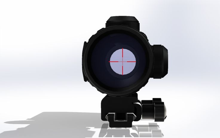 Lunette 1,5-5x32_SWISS-ARMS_sur rail Picatinny. Rifle Scope with Illuminated BDC Reticle, Red and Green.