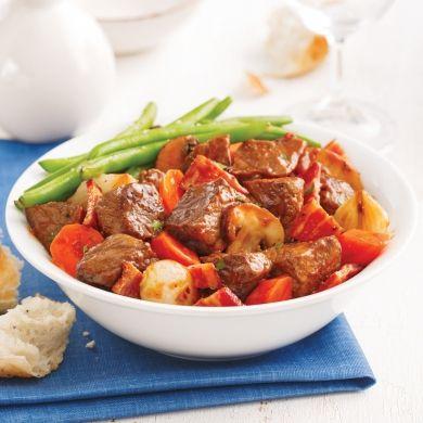 Bœuf bourguignon à la mijoteuse - Recettes - Cuisine et nutrition - Pratico Pratique