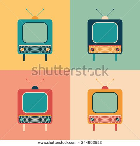 Colorful set of retro TVs. #retro #retroicons #flaticons #vectoricons #flatdesign
