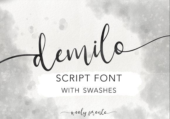 Demilo Brush Script With Swashes Brush Script Brush Script