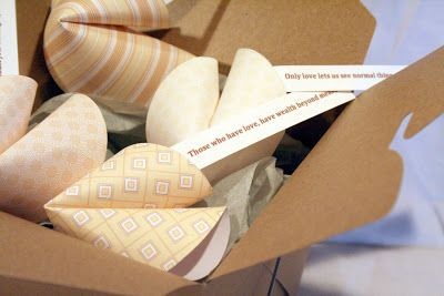 How to make paper fortune cookies, thoughtful gift idea
