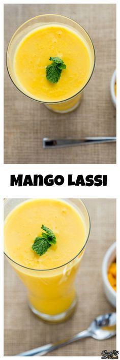 The popular Indian drink Mango Lassi is a delicious blend of mangoes and yogurt. Find the recipe on www.cookwithmanali.com