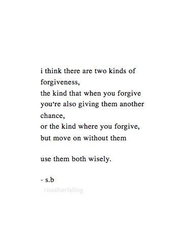 Forgiveness -- so true.