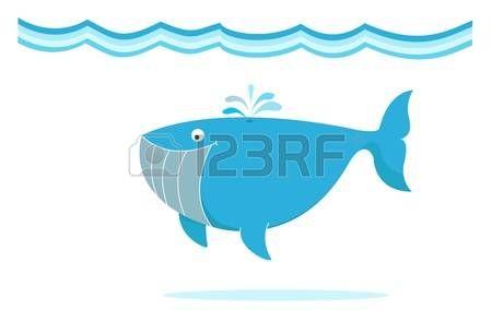 blauwe grote walvis onder de zee illustratie photo