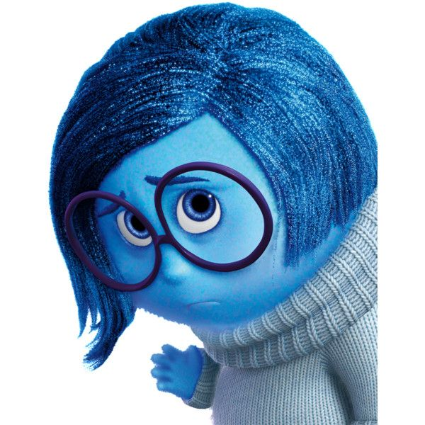 Sadness (Inside Out) ❤ liked on Polyvore featuring accessories and disney