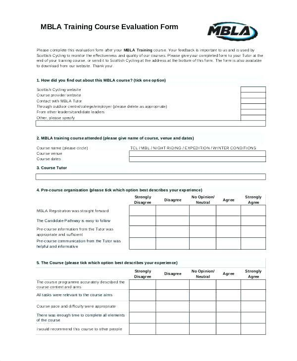 360 Feedback Form Template 360 Feedback Course Evaluation Performance Appraisal