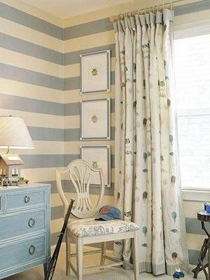 Baby boys room with the striped look