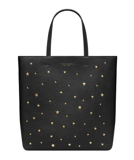 2dc69dba547e46 Tory Burch Stud Star Small Black Lamb Skin Tote. Get one of the hottest  styles of the season! The Tory Burch Stud Star Small Black Lamb Skin Tote  is a top ...