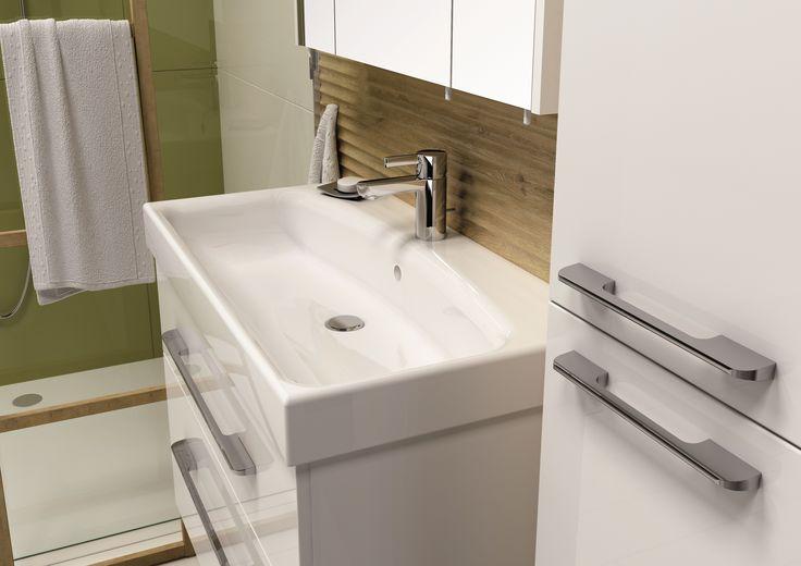 Barcelona 80 2S white. #elita #meble #lazienka #barcelona #bathroom #furniture