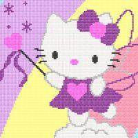 Hello Kitty Rainbow Afghan Blanket Crochet Pattern $4.50