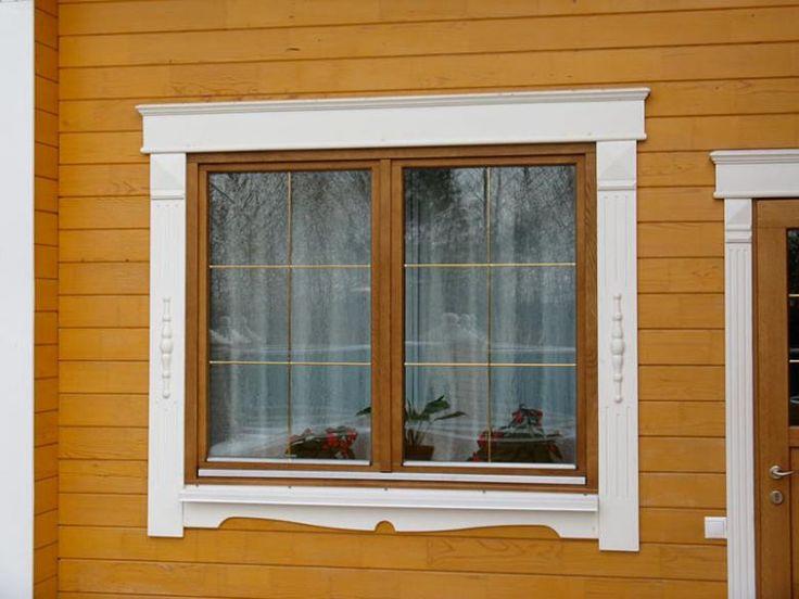обрамление окна деревом
