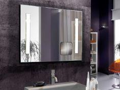espejo de bao con luz led modelo lupa