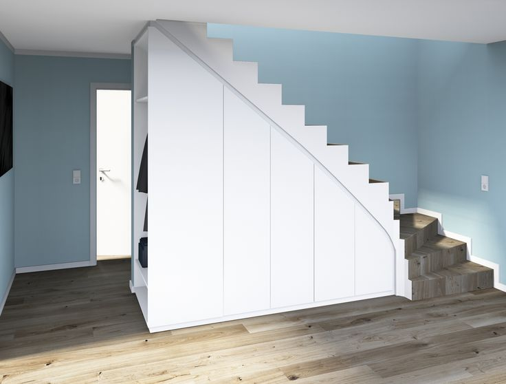 Echte Maßarbeit, hier wurde kein mm verschwendet! Wer hätte gedacht, dass sich unter der Treppe so stylischer Stauraum unterbringen lässt.  Wohnen …