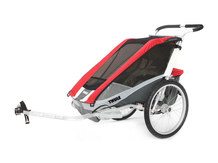 Thule Chariot Cougar1 + Fahrradset, rot