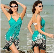 2016 Moda De Seda Gelo Sexy Sling Boho Praia Feminino Verão Vestido Vestidos Das Mulheres Vestidos de Impressão Sem Encosto Garfo Aberto Vestidos de Spandex DH214 alishoppbrasil
