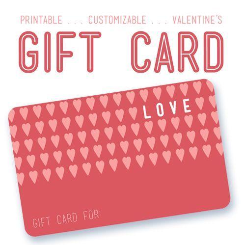 printable customizable valentines gift