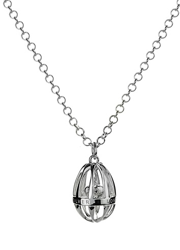 Silver necklace available at  www.lucymecklenburghjewellery.com in association with www.diamondgeezer.com