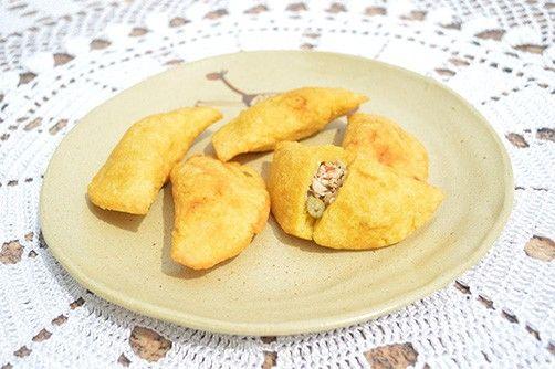 Pastel de Angu com Frango com Quiabo