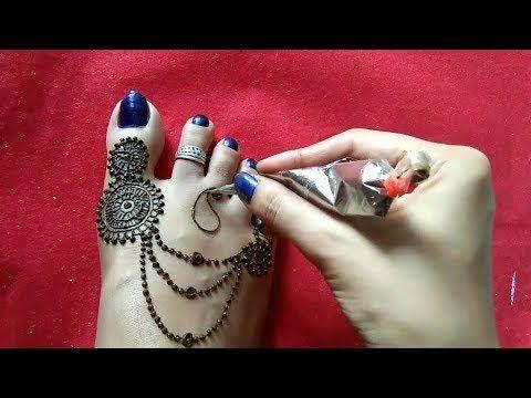 Mehndi Designs for Legs |Simple Mehndi Design for Feet |Mehandi Designs - YouTube