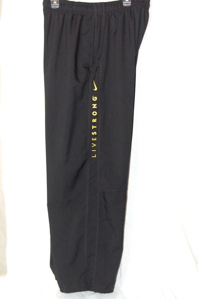 Nike Livestrong Athletic Pants XXL 2XL Mens Dri Fit Black Yellow Armstrong Track #Nike #Pants