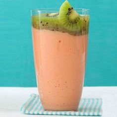 Double C Smoothie: T Double C Smoothie: This immune-boosting blend is a great source of vitamin C and calcium, combining kiwi, papaya, and low-fat frozen yogurt or kefir. It's also low sodium and low fat, and even contains 6 grams of protein, which keeps you fuller for longer, and helps you repair muscle. | Health.com https://www.pinterest.com/pin/186758715774352283/ Also check out: http://kombuchaguru.com
