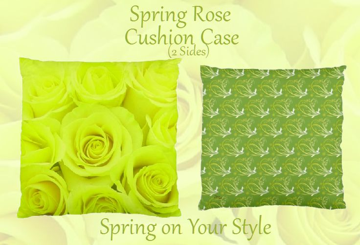 Spring Rose- Cushion Cases(2 Sides)
