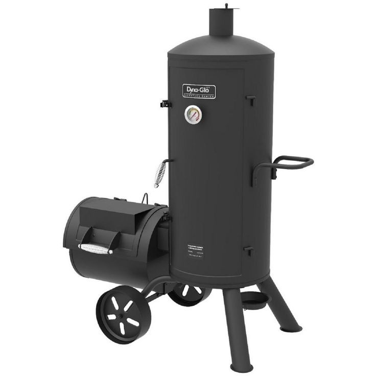Dyna-Glo Signature Series Heavy-Duty Vertical Offset Charcoal Smoker and Grill in Black