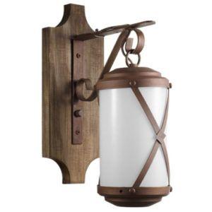 luminárias rústicas arandela com base de madeira