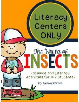 This unit is challenging and engaging, rich in facts, and full of fun activities to help K-2 students learn about insects. This packet is a portion of the complete insect unit, with ONLY the literacy centers. In this packet, you will find 10 literacy centers, including: *Sentence scramble *ABC order *Descriptive words *Verb endings (with a bonus center!)*Work on writing *Noun, verb, and adjective sort *Handwriting *Sorting words into word families *Roll-a-sentence game *Singular and plural…