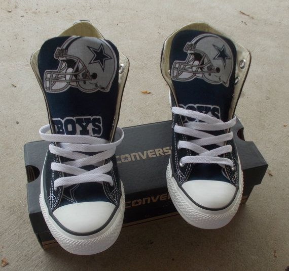 Dallas Cowboys Converse Shoes by FreeStreetShop on Etsy