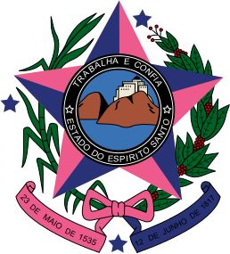 """COA of Espírito Santo is one of the states of southeastern Brazil, often referred to by the abbreviation """"ES"""". Its capital is Vitória and the largest city is Vila Velha. The name of the state means literally """"holy spirit"""" after the Holy Ghost of Christianity. With an extensive coastline (40% of the territory is on the coast), the state has some of the country's main ports, but the beaches are the most significant tourist attractions. Vitória, the capital, is on an island, next to Guarapari"""