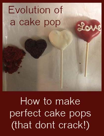 How to make Cake Pops that don't crack.