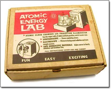 """A kid toy from the 50s and early 60s.  It had REAL samples of uranium, radium, and dry ice!  Now, didn't they really know how dangerous that was or the careless """"haves"""" just wanted to make an extra buck?"""