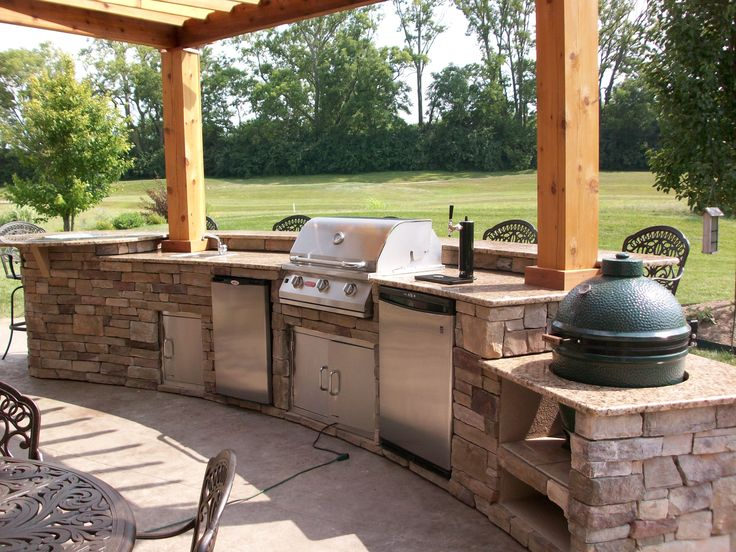 25 Best Images About Outdoor Kitchen W Big Green Egg On Pinterest Hot Dogs Patio And The Cowboy