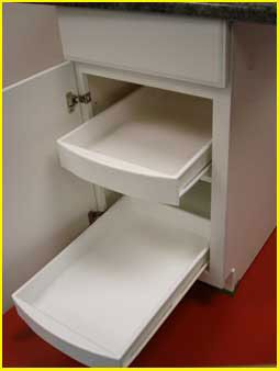 Consider using in understairs storage nook for recycling bin & paper products.