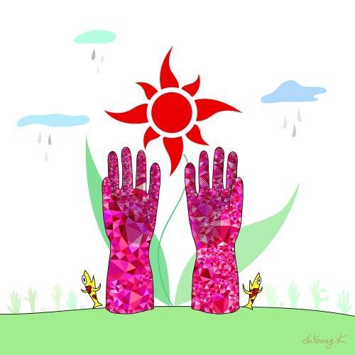 "by. JuYoung.K [고무장갑(rubber gloves)],  2015, digital image,  ""A""  Facebook : https://www.facebook.com/JuyoungK89 Blog : http://blog.naver.com/juyoungk89 Twitter : @JuYoungK89 tumblr : http://juyoungk.tumblr.com/ Kakao Talk ID : idealWorld  #still_Life #StillLife #고무장갑 #Rubber_Gloves #RubberGloves #art #artwork #cloud #Sun #fish #digitalimage #digital_image #fineart #illustration #animal"