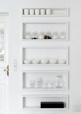 .: Kitchens Interiors, Kitchens Shelves, Kitchens Design, Built In, Storage Shelves, Interiors Design, Design Kitchen, Shadows Boxes, Modern Kitchens