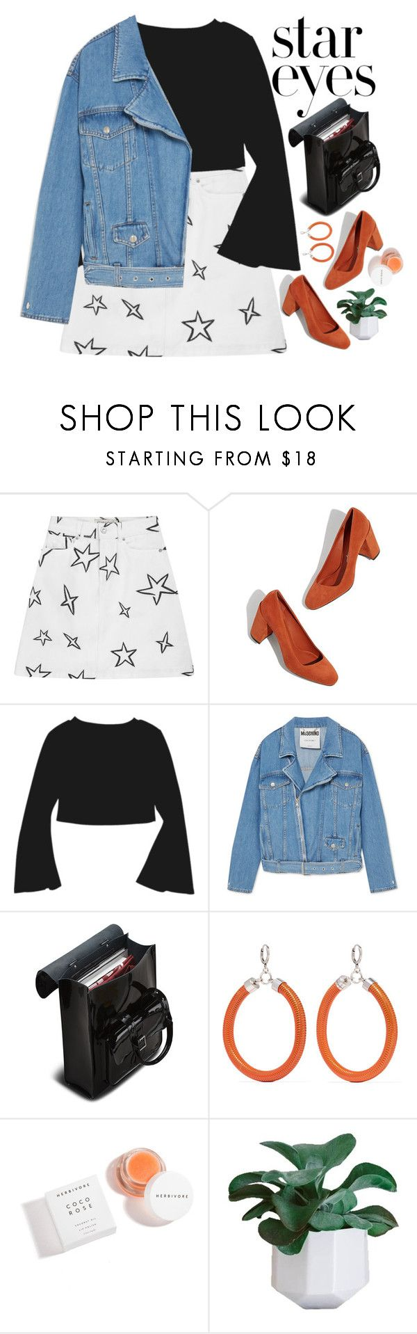 """""""STARRY EYED"""" by evangeline-lily on Polyvore featuring Être Cécile, Moschino, Dr. Martens, Isabel Marant, Herbivore, fallwinter2018 and StarOutfits"""