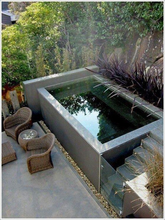 25 melhores ideias sobre piscinas para quintal pequeno no for Piscinas e jardins