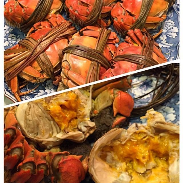 香港の赤酢に生姜と砂糖を入れると 結構本格的! 蒸す時はウーロン茶を入れました - 117件のもぐもぐ - 上海蟹蒸しました by sasachanko
