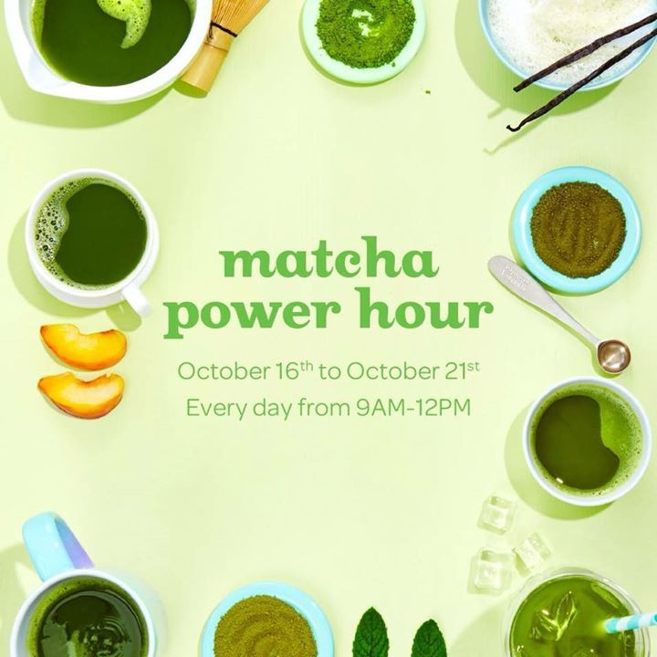 Crave a boost of energy with health benefits? DAVIDsTEA has half off Matcha drinks and more, during Power Hours!!! #Tools #Lenses #Chargers #USB #Drives #Wristbands