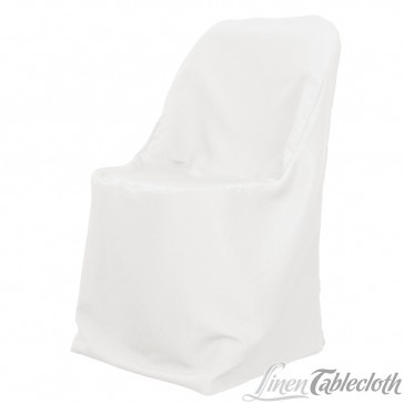 Polyester Folding Chair Cover White on a Folding Chair $1.99