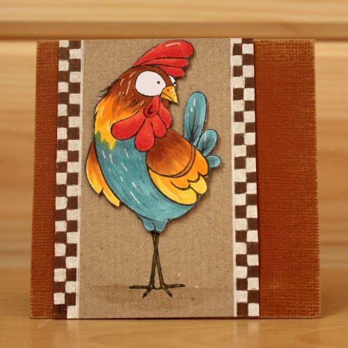 CS132D 'Funky Chicken' Clear set contains 11 stamps. Designed by the very talented Sharon Bennett for Hobby Art. Card made by Becki Mayes