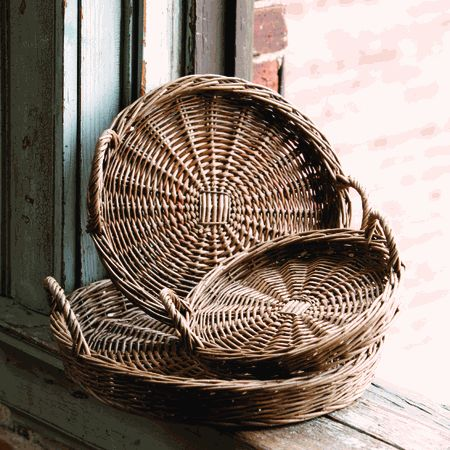 Park Hill Collection Round Willow Trays (Set-3) - LB8606
