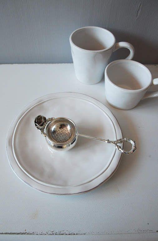 Dezertní talíř malý bílý Anglická sezóna